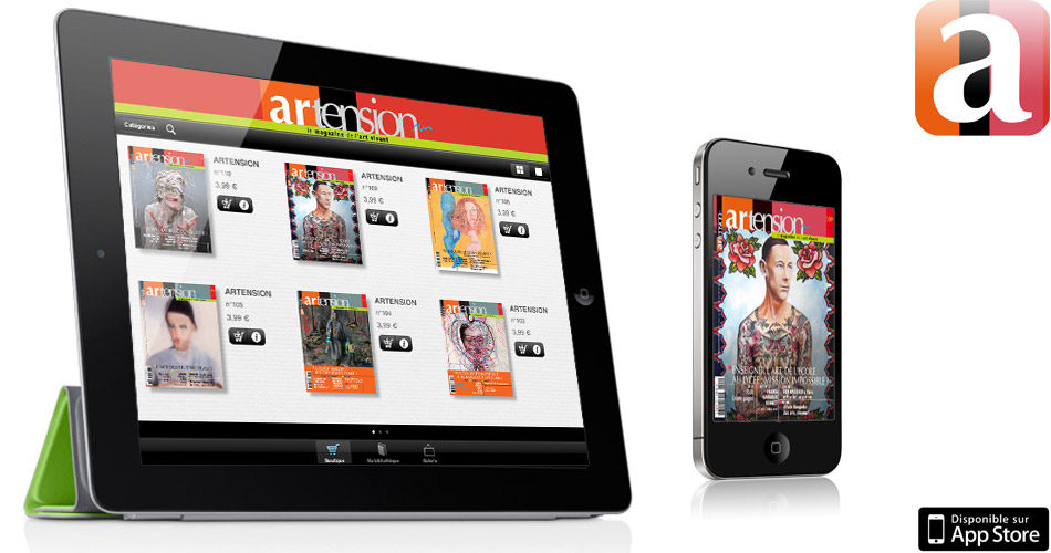 Application-kiosque-iPad-iPhone-magazine-Artension