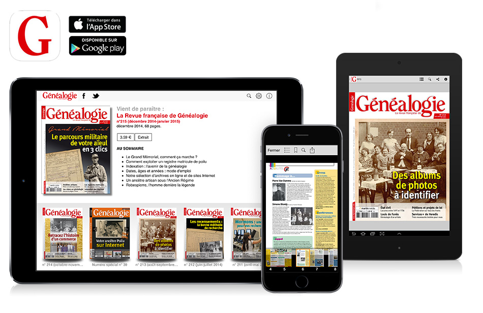 application-kioque-magazine-La-Revue-Française-de-Genealogie-sur-ipad-iphone-android