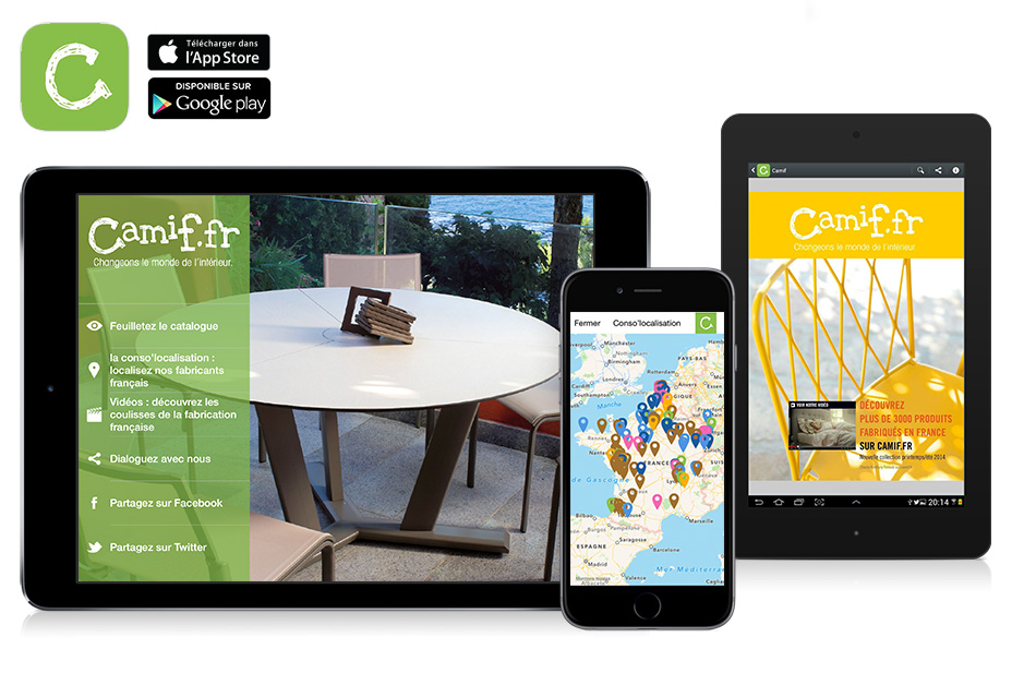 application-kiosque-catalogue-Camif-sur-ipad-iphone-android