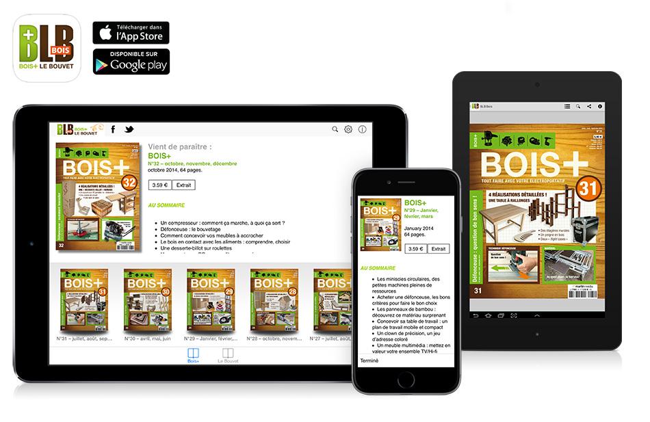 application kiosque magazine blb bois sur ipad iphone et android flippad digitalisation. Black Bedroom Furniture Sets. Home Design Ideas