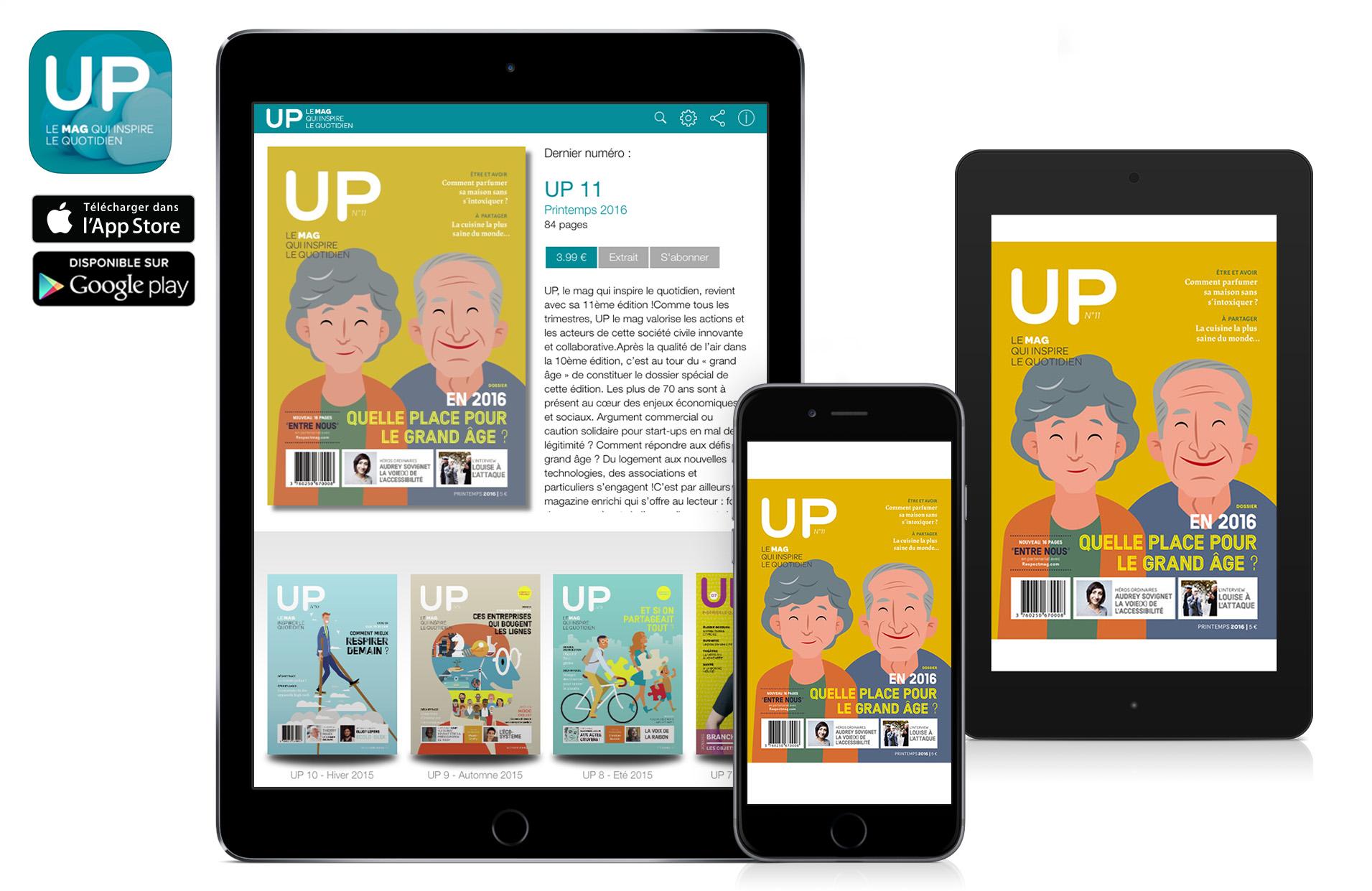 application kiosque up le mag sur ipad iphone et android flippad digitalisation catalogues. Black Bedroom Furniture Sets. Home Design Ideas